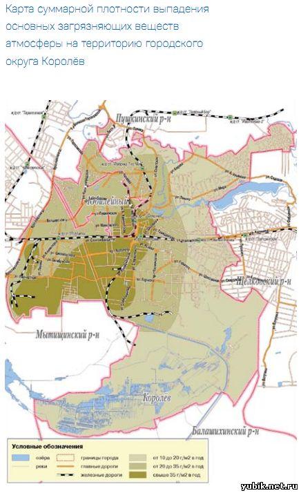 Карта суммарной плотности