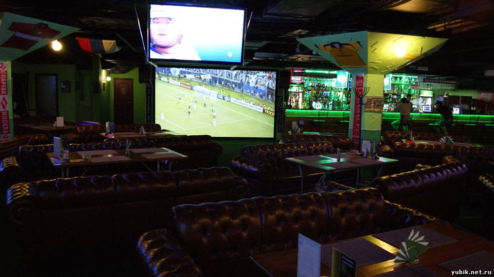 a sports bar Sports fans flock to bars where they can cheer on their favorite team with big screen tvs, great beer and good food.